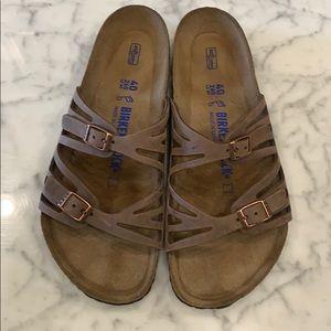 Brown Birkenstock sandal